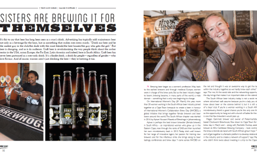 inflight magazine women in beer